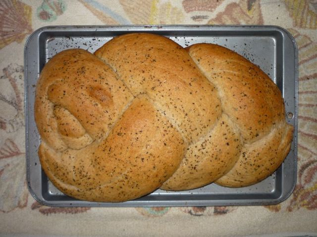 Braided bread, top view