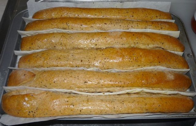 Bread sticks done