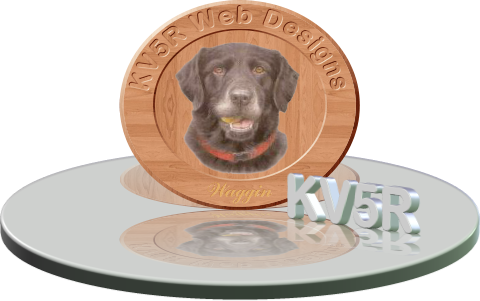 Engraved hardwood oval of a dog, sitting on a reflecting table. Made in Xara Xtreme.