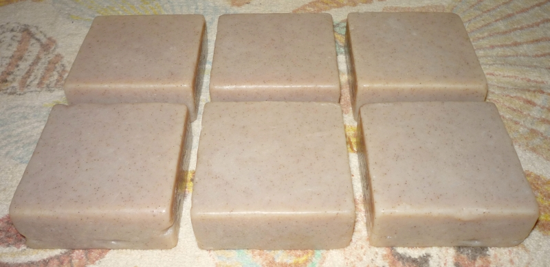 6 3-inch square soap bars