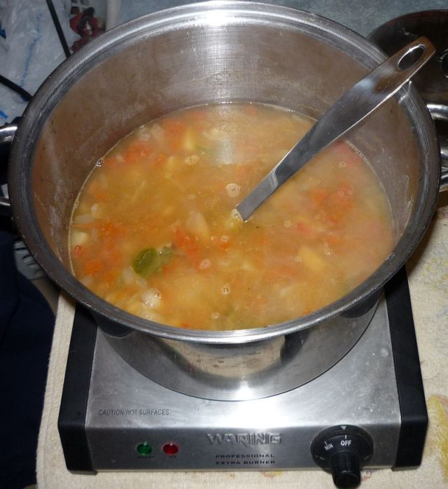 Soup in pot